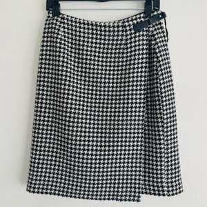 Ralph Lauren Wool Houndstooth Wrap Pencil Skirt